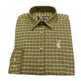 Myslivecká košile Luko dámská flanelová s výšivkou