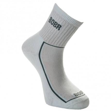 Ponožky jaro-podzim sport Bobr bílé